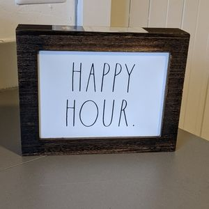 [Rae Dunn]🍸Happy Hour Wooden Sign